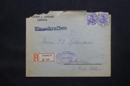 ALLEMAGNE - Enveloppe Commerciale En Recommandé De Leipzig Pour Anvers En 1918 Avec Cachet De Contrôle - L 43096 - Allemagne