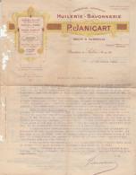 Huilerie - Savonnerie : P. JANICART : ( Salon De Provence - Bouches Du Rhone ) 1923 - Huile D'olives - Huile De Table - Profumeria & Drogheria