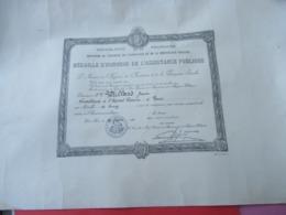 Grd Diplôme/ Médaille D'Honneur De L'Assistance Publique/Vétillard/Surveillante à L'Hopital Laennec/1926       DIP216 - Diplomi E Pagelle