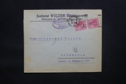 ALLEMAGNE - Enveloppe Commerciale De Aachen Pour Anvers En 1918 Avec Cachet De Contrôle - L 43100 - Allemagne
