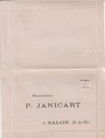 Carte-réponse : Huilerie - Savonnerie : P. JANICART : ( Salon De Provence - Bouches Du Rhone ) à Volet - Salon De Provence