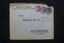 ALLEMAGNE - Enveloppe Commerciale De Hamburg Pour Anvers En 1915 Avec Cachet De Contrôle , Timbres Perforés - L 43104 - Brieven En Documenten