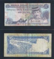 Banknote - BRUNEI 1 RINGGIT 1994 CURRENCY MONEY BANKNOTE (#144) - Brunei