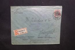 ALLEMAGNE - Enveloppe Commerciale De Düsseldorf Pour Anvers En 1917 Avec Cachet De Contrôle , Timbre Perforé - L 43106 - Allemagne