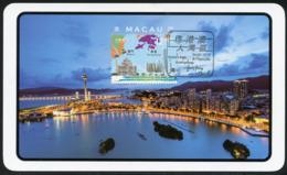 MACAU / MACAO (2019). Grande Baía Guangdong-Hong Kong-Macau - Maximum Card (Macau Tower) Stamp S/sheet - 1999-... Chinese Admnistrative Region