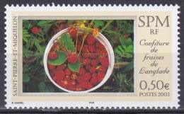 St. Pierre Und Miquelon 2003 Nahrungsmittel Lebensmittel Marmelade Jam Langlade Beeren Erdbeeren Strawberry, Mi. 894 ** - St.Pierre & Miquelon