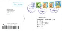 Lettre Recommandée De Dnipropetrovsk Vers La Belgique Du 24/10/2006 - Ukraine