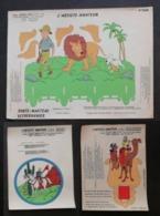 Tintin Kuifje Hergé - L'artiste Amateur - 3 Planches Sérigraphiées - Année 50 - - Libros, Revistas, Cómics