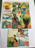 Romania - 8 Disney Mc Donalds Fake Phonecards - Roumanie