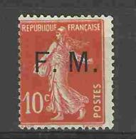 Franchise Militaire N°5 -  Type Semeuse Camée 10c Rouge - Franchise Stamps