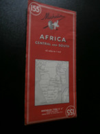 Michelin 155 : Afrique Centre Et Sud - Africa Central And South (1963) Congo, - Geographische Kaarten