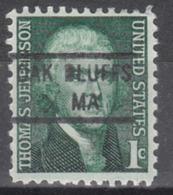 USA Precancel Vorausentwertung Preo, Locals Massachusetts, Oak Bluffs 841 - Vereinigte Staaten