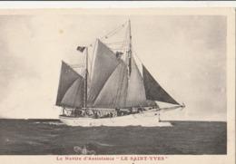 """Bateaux - VOILIERS - Le Navire D'assistance """" LE SAINT YVES """" - Sailing Vessels"""