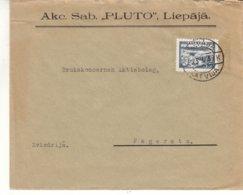 Lettonie - Lettre De 1939 ° - Oblit Liepaja - Exp Vers Fageresta - Armoiries - Chutes D'eaux - Lettonie