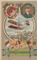 Cartolina  - Postcard / Non Viaggiata - Unsent /   Pionieri Dell'Aviazione - Illustratore V. Mellone - Paul Tissadier. - Airmen, Fliers