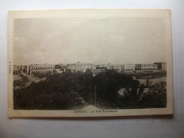 Carte Postale Djibouti - La Ville Europeenne  (Petit Format Noir Et Blanc Circulée ) - Djibouti