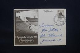 ALLEMAGNE - Entier Postal Jeux Olympiques De Berlin En 1936 Voyagé - L 43114 - Allemagne