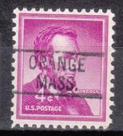 USA Precancel Vorausentwertung Preo, Locals Massachusetts, Orange 819 - United States