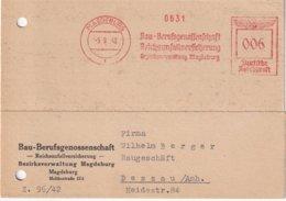ALLEMAGNE 1942 CARTE EMA DE MAGDEBURG - Germania