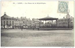 62. LENS - La Place De La République - Kiosque - Lens