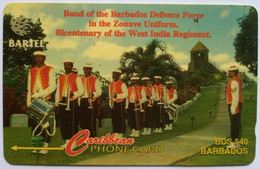 88CBDA B$40 Defense Force Band With Slash C/n - Barbades