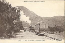 Le Chemin De Fer Et Le Puy De Dôme, Train à Crémaillère (locomotive Et Wagon) - Carte Idéal N° 4284 Non Circulée - Trains