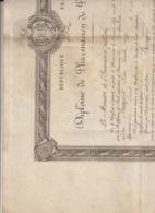 Arch. L.B (3) : Diplome De Pharmacien 1è Cl. 1901 Montpeller Pierre Louis Busquet Remoulins Gard - Historical Documents