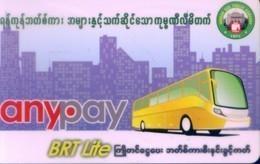 Myanmar Transport Cards, (1pcs) - Myanmar (Burma)