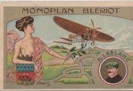 Cartolina- Postcard / Viaggiata - Sent / Pionieri Dell'Aviazione - Illustratore V. Mellone - A. Leblanc. - Piloten