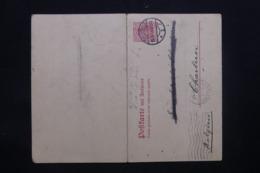 ALLEMAGNE - Entier Postal De Dessau Pour Charleroi En 1913 Avec Réponse  - L 43124 - Ganzsachen
