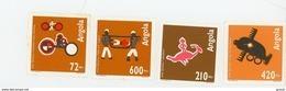 Angola 1993-Art Quioca, Véhicule,cavalier,avion YT891/94***MNH - Angola