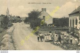 45.  LES CHOUX .  Route De Gien .  CPA Animée . - France