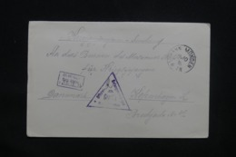 ALLEMAGNE - Enveloppe De Prisonnier à Hann Münden Pour Copenhague En 1916 Avec Cachet De Contrôle  - L 43125 - Allemagne