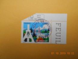 FRANCE 2019     LE CREUSOT     Beau Cachet  Rond Sur Timbre Neuf  COIN DE FEUILLE - Frankreich