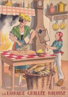 CPA - JEAN PARIS - Barré Et Dayez - Barday - Nos Plats Régionaux - La Dorade Grillée - Cuisine - 1417G - Barday