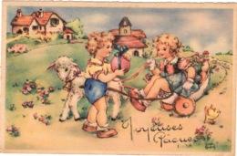 CPSM : Illustrateur Luce André , Oeuf De Pâque , Enfants - Autres Illustrateurs