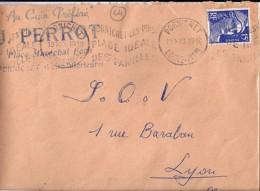 44 . LOIRE ATLANTIQUE . PORNICHET . OBL. TYPE KRAG . 1953  POR154 - Postmark Collection (Covers)