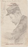 Arch. L.B (10) : Portrait De L. Busquet Par Le Dr Coutencin à L'Hôpital De Vizzanova /Vivario 1914 - Historische Documenten