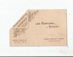 TRESOR DE VIOLETTES CARTE PARFUMEE ANCIENNE DES PARFUMS GODET - Vintage (until 1960)