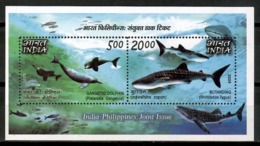 India 2019 / Dolphins Whales Joint Issue Philippines MNH Delfines Ballenas Emisión Conjunta Filipinas / Cu14810  29-17 - Delfines