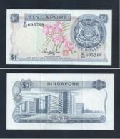 RARE ! SINGAPORE 1 DOLLAR ORCHIDS CURRENCY MONEY BANKNOTE (#143C) AU - Singapore