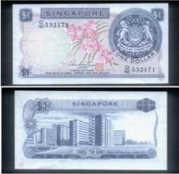 RARE ! SINGAPORE 1 DOLLAR ORCHIDS CURRENCY MONEY BANKNOTE (#143D) AU - Singapore