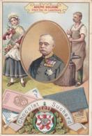 Cpa ( Chromo )-pub Chocolat  (suisse) Suchard-pas Sur Delc.-adolphe Guillaume , Grand Duc De Luxembourg - Publicité