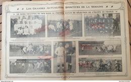 1912 RUGBY - MATCH DE SÉLECTION DE L'ÉQUIPE DE FRANCE - NORD = SUD - Livres, BD, Revues