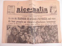PRINCIPAUTÉ DE MONACO-MARIAGE RAINIER III-GRACE KELLY- Pages Concernant Cette Actualité: NICE-MATIN Du 28/04/1956 13 Pho - 1950 - Today