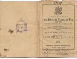 """Livret """"Véterans Des Armées De Terre Et De Mer 1870-1871""""  40 Pages TTTB état  Auxerre  Merry La Vallée - Documents Historiques"""