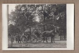 CPA PHOTO GUERRE 14-18 - TB GROS PLAN ATTELAGE Cuisine Roulante Emportant La Soupe Aux Tranchées TB ANIMATION - War 1914-18