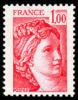 France N° 1972 B ** Sabine De Gandon Le 1f00 Rouge - Variété Gomme Tropicale - Unused Stamps