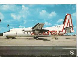 CP AVION FOKKER F 27  AIR ALPES F-BYAR  EDIT P.I.  345 - 1946-....: Era Moderna