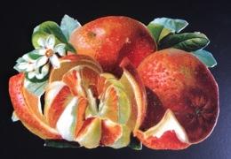 Beau Chromo Découpis Fruits Fruit Oranges 7,5 X12,5 Cm - Gesneden Chromo's